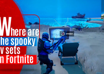 Where are the spooky tv sets in fortnite