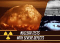 Nuclear tests with severe defects