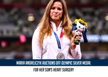 Polish javelin thrower Maria Andrejczyk auctions off an Olympic medal for her son's heart surgery
